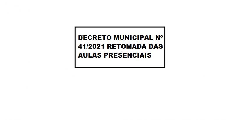DECRETO MUNICIPAL Nº 41/2021
