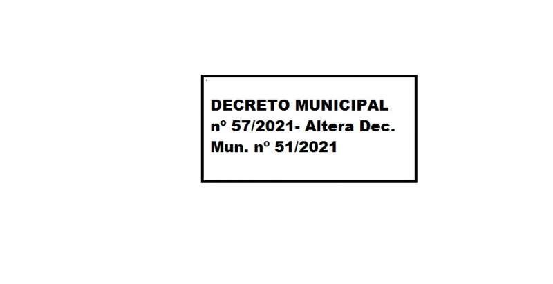 DECRETO MUNICIPAL Nº 57/2021
